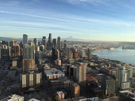 Seattle, City, Space Needle, Usa, Amercia, High Rises