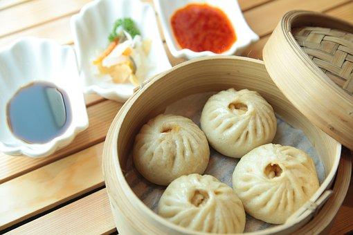 Chicken Bao, Buns, Chicken, Food, White, China, Asian