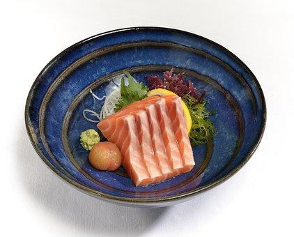 Salmon Sashimi, Salmon, Raw, Fish, Sashimi, Food