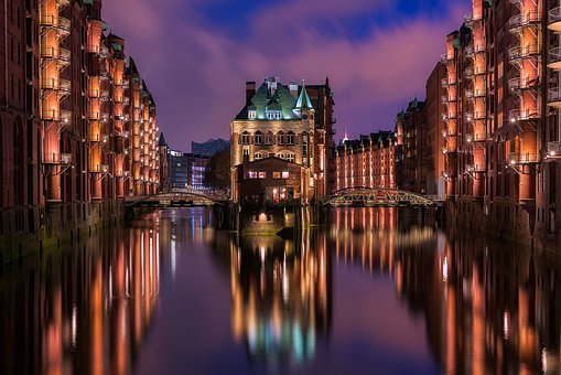 Hamburg, Germany, City, Urban, Buildings, Architecture