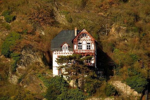 Home, Rock, Landscape, Building, Mountain, Picturesque
