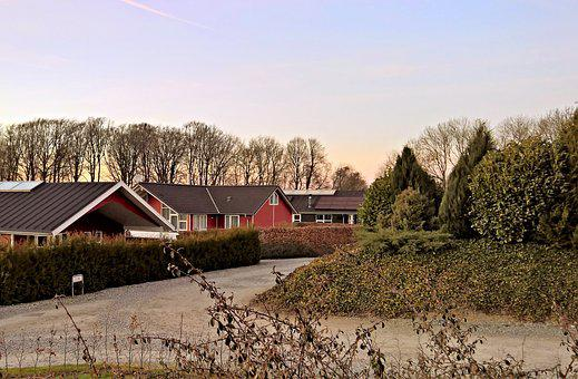 Denmark, Cottage Settlement, Typical, In The Forest