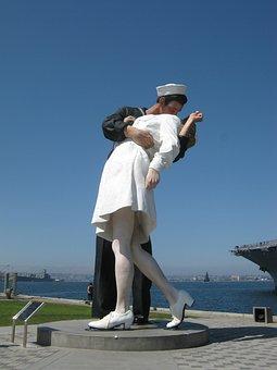 Kiss, Kissing Statue, Cali, Statue, Love, Sculpture