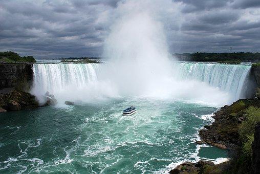 Niagara Falls, Waterfall, River, Scene, Scenery, Scenic
