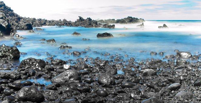 Sea, Ocean, Costa, Beach, Rocks, Waves, Water, Blue