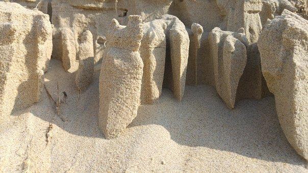 Sand, Erosion, Sculpture, Beach, Dunes