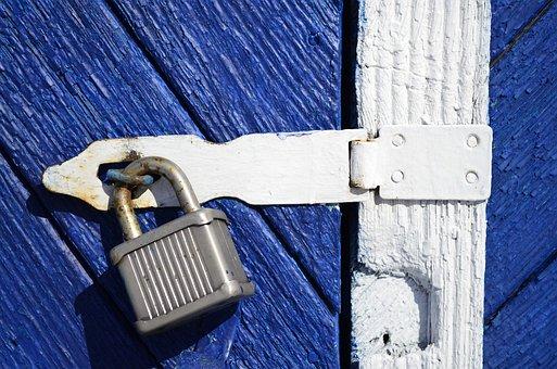Castle, Door, Tree, Steel, Blue, Old