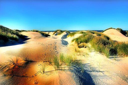 Dunes, Beach, Denmark, Sand, North Sea, Sea, Summer