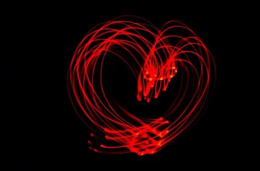 Heart, Led, Light, Red, Led Light, Points Of Light
