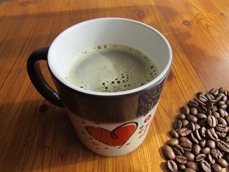Coffee, Heart, Magic Mug, Coffee Beans, Creamy Coffee