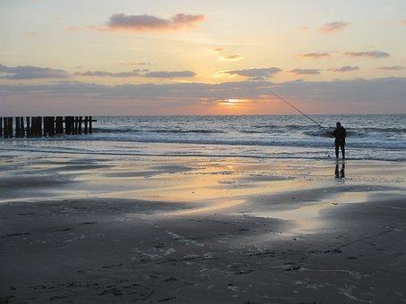 Angler, Beach, Sea, Fish, Coast, Water, Lake, Sky