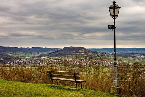 Walberla, Bank, Lantern, Outlook, Landscape, Bench, Sit