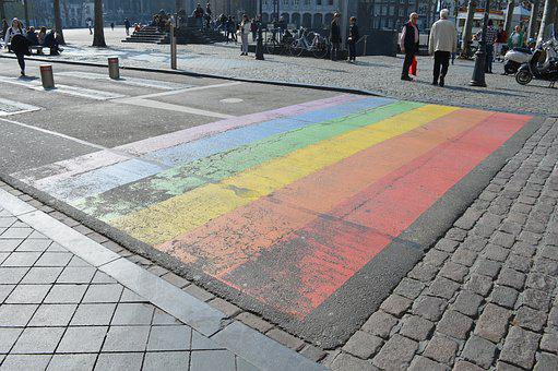 Rainbow, Maastricht, Netherlands, Zebra Crossing
