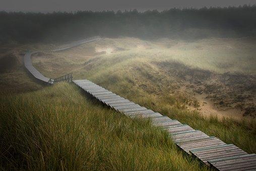 Amrum, Dunes, Island, Nordfriesland, Sand Dune, Clouds