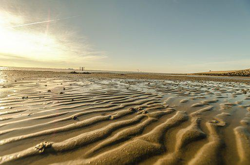 Beach, Winter, Ebb, North Sea, East Frisia, Holidays