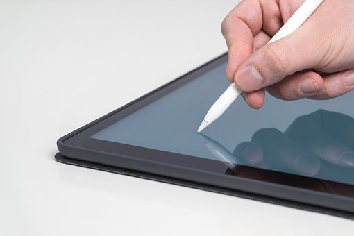 Tablet, Stylus, Close Up, Banner, Pencil, Pen