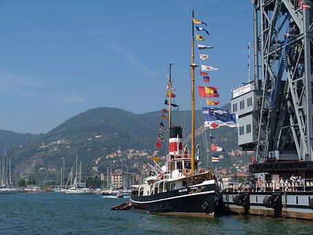Boat, Port, Italy, Mediterranean, Bulwark, Spezzia