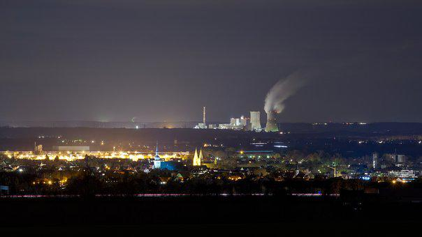 Power Plant, Night, Power Supply, Power Station