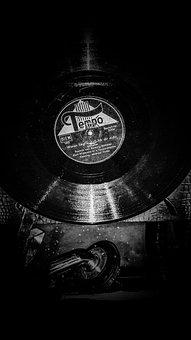 Music, Record, Records, Black, White, Analog, Wallpaper