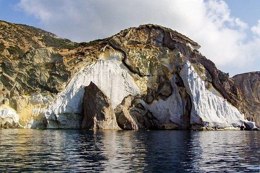 Ponza, Island, Cliff, Italy, Latina, Rocks, Crag, Tuff