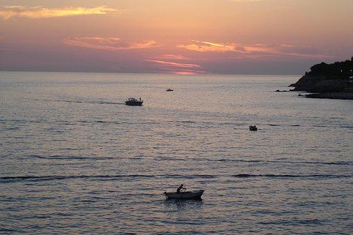 Adriatic, Sea, Sunset, Mediterranean, Coast, Summer