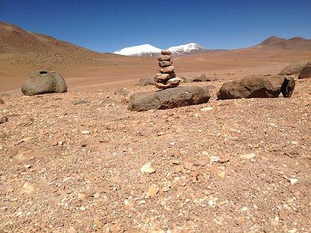 Stones, Height, Plateau, Blue
