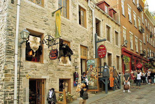 Canada, Quebec, Old Town, Shops, Store, Signs