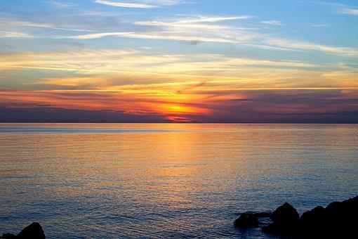Sunset, San Nicola Arcella, Calabria, Italy, Sea