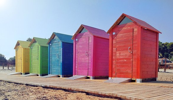 Beach, Sea, Costa, Booths, Sun, Walk-in Closets