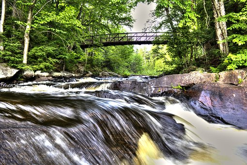 Nature, Waterfalls, Landscape, River, Stream, Outdoors