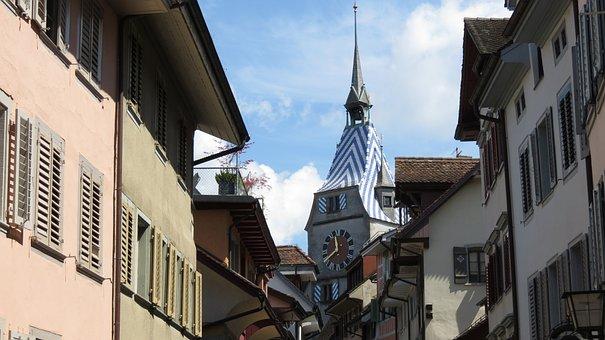 Zug, Switzerland, Swiss, City, Europe, European, Town