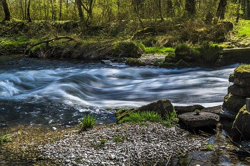 Water, River, Bach, Racing, Murmur, Rustling, Nature