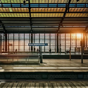 Berlin, Railway Station, Metro Station, Architecture
