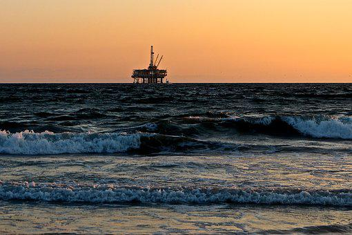 Oil Rig, Sea, Oil, Gas, Drill, Drilling, Platform