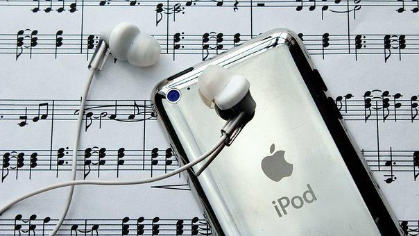Ipod, Headphones, Music, Melody, Musical Note, Clef