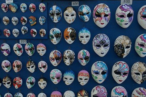 Mask, Ceramic, Ceramics, Masks, Souvenir, Venice, Italy