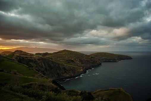 Landscape, Mar, Ocean, Serra, Azores, Portugal, Nature