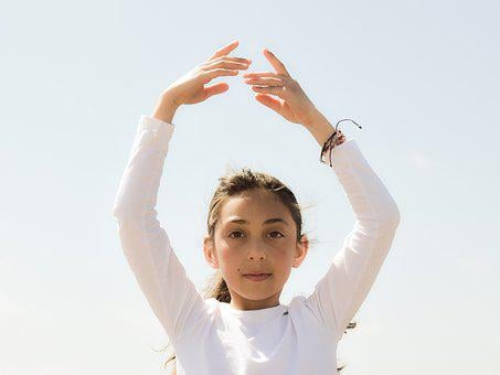 Girl, Dancing, Light, Peace, Balance, Wellness, Kid