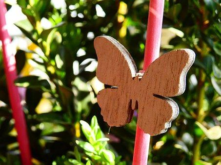 Butterfly, Wood, Jewellery, Plant, Art, Artwork, Craft