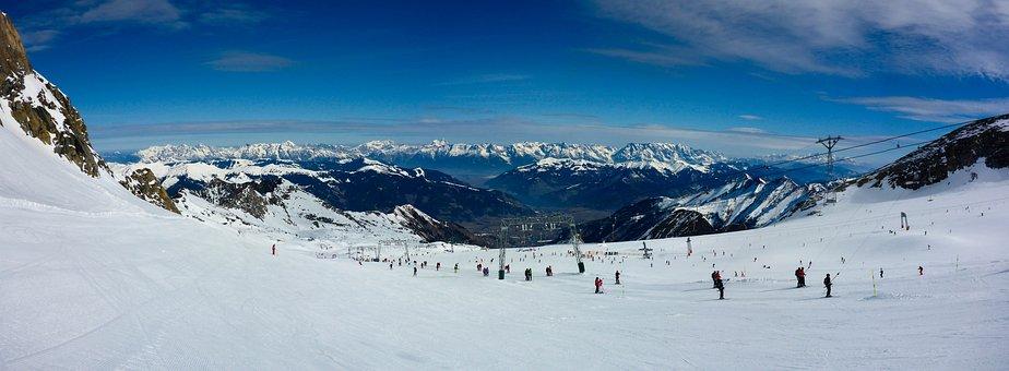 Panorama, Skiing, Kitzsteinhorn, Snow, Glacier, Winter