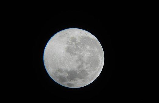 Moon, Space, Astronomy, Night, Dark, Exposure