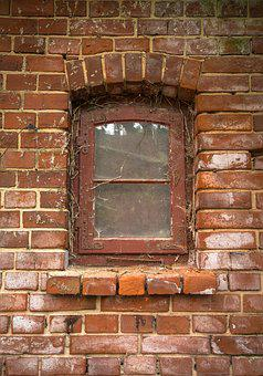 Window, Wall, Old, Stone Wall, Ingrowing, Background