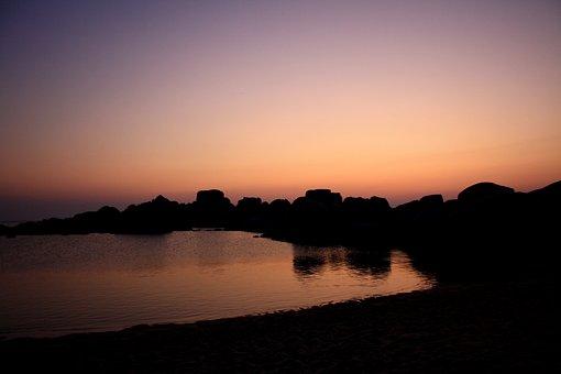 Sardinia, Sunset, Abendstimmung, Evening, Purple Sky