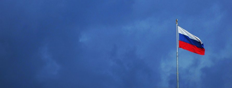 Russia, Flag, Clouds, Thunderstorm, Gloomy, Policy