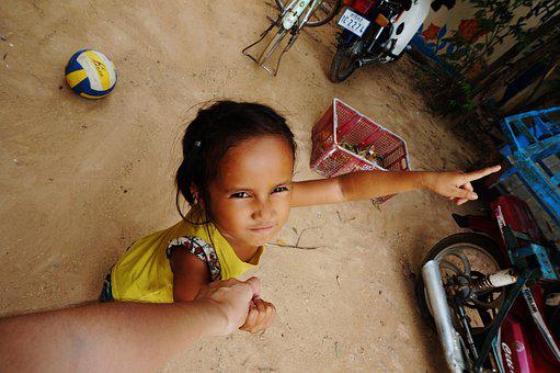 Cambodia, Village, Countryside, Kid, Child, Volunteer