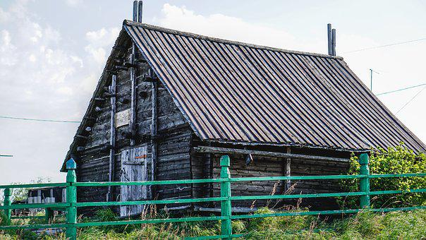 Old House, Village, Wood, Russia, Old, Cottage