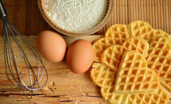 Waffles, Waffles Bake, Ingredients, Egg, Scrambled Eggs