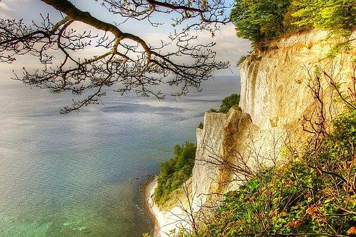 Món, Island, White Cliffs, Denmark, Island Mön, Cliff