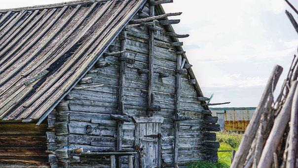 Village, House, Russia, Wood, Cottage, Wooden House