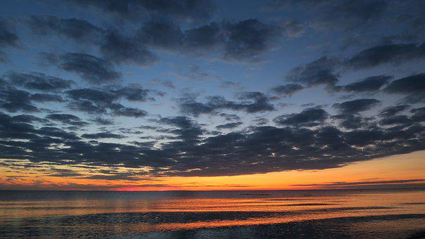 Sunset, Sea, Sunset Sea, Abendstimmung, Evening Sky